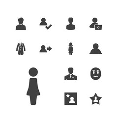 13 user icons vector