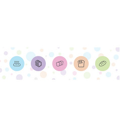5 loaf icons vector