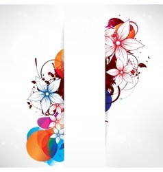 Abstract background with floral elements vector image