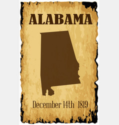 Alabama admission to the union date vector