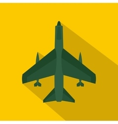 Armed fighter jet icon flat style vector image