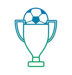 ball and trophy football soccer icon image vector image