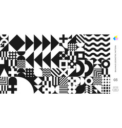 bauhaus and swiss pattern background abstract vector image