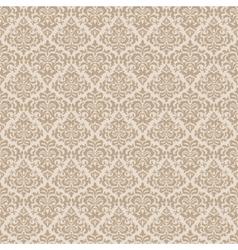 Beige wallpaper pattern vector image