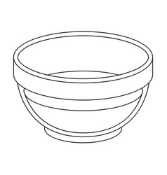 Bowl of oilolives single icon in outline style vector