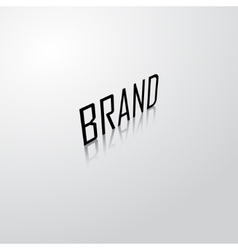 Brand name background vector