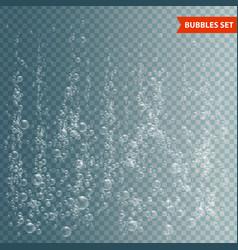Bubbles under water vector