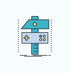 build craft develop developer game flat icon vector image