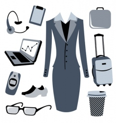 business woman accessories set vector image