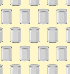 Canned seamless pattern Background of jars for vector