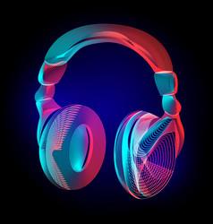 colorful headphones or music sound earphones vector image