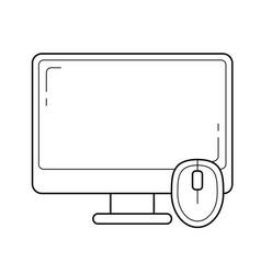 computer desktop line icon vector image
