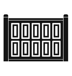Concrete fence icon simple style vector