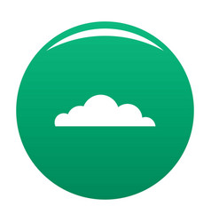 Cumulus cloud icon green vector