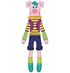 Doll - pig vector