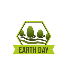 Earth day nature ecology forest icon vector