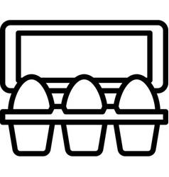 Egg carton icon supermarket and shopping mall vector