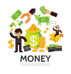 flat finance concept vector image