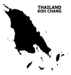 Flat map koh chang with name vector