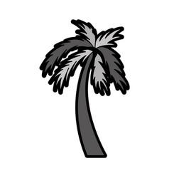 flat palm cartoon vector image