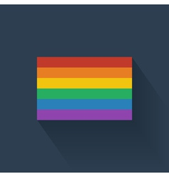 Flat rainbow flag vector
