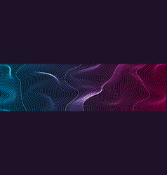 futuristic refracted dotted lines waves abstract vector image