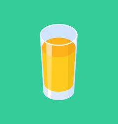 glass of fresh orange juice isolated vector image