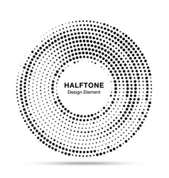 halftone circle dotted frame round border vector image