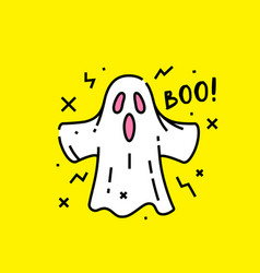 Halloween ghost boo icon vector