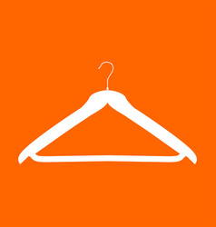 Hanger white icon vector