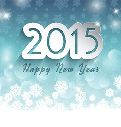 happy new year background on snowflake background vector image