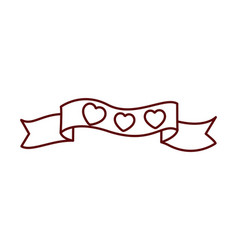 heart with ribbon isolated icon vector image