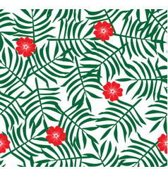 Hibiscus flower hawaiian floral pattern vector