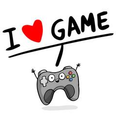 I love game joystick heart background image vector