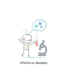 infectious diseases specialist is standing next to vector image