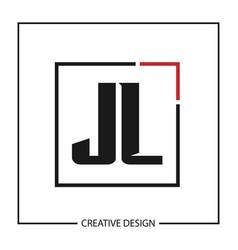 Initial letter jl logo template design vector