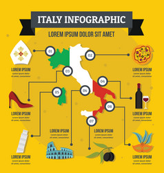 Italy infographic concept flat style vector