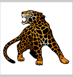 Jaguar logo icon character vector