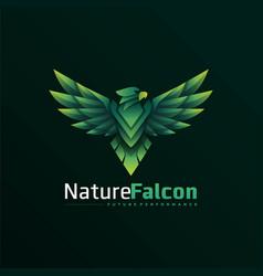 Logo nature falcon gradient colorful style vector