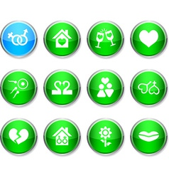 Love round icons vector