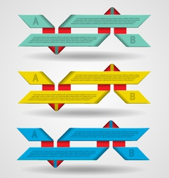 Modern set of ribbons infographics vector