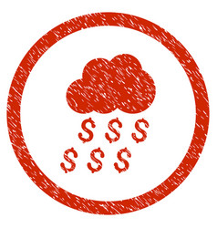 Money rain rounded grainy icon vector