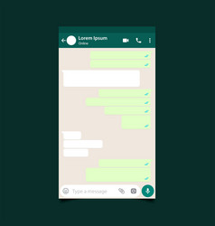 mubarakmockup of mobile messenger inspired by vector image