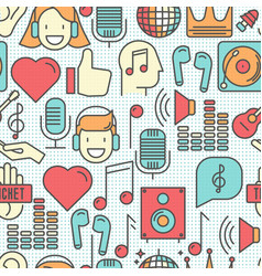 music festival seamless pattern vector image