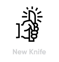new knife icon editable line vector image