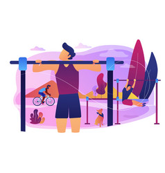 Outdoor workout concept vector