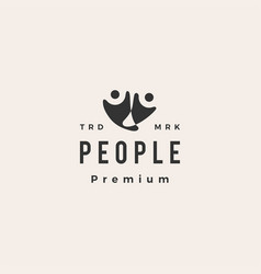 people human hipster vintage logo icon vector image