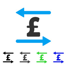 Pound transactions flat icon vector