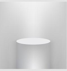 product presentation podium white stage empty vector image