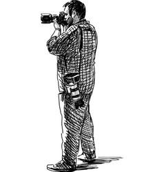 Professional photographer vector